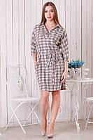 Женское платье-рубашка в клетку р.46-50 Y251-1