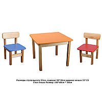 Столики и стульчики детские (размер стола 60*60)
