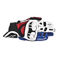 Мотоперчатки ALPINESTARS GPX  кожа/текстиль белый красный синий M
