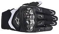 Мотоперчатки женские ALPINESTARS Stella SMX-2 AC кожа/текстиль черный белый XS