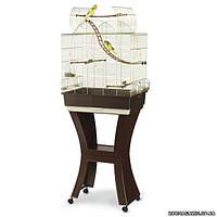 Imac МАТИЛЬДА (MATILDE) клетка с подставкой для попугайчиков, пластик, латунь, 58х38х71/143 см.
