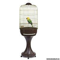 Imac ЛОРИ (LORY) клетка с подставкой для попугаев, пластик, латунь 52/149 см.