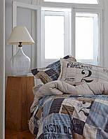 Постельное белье Karaca Home перкаль Cool голубой евро размера