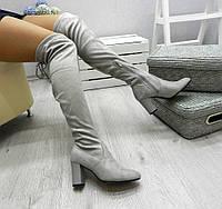 Сапоги-чулки ботфорты в наличии..Серый,Черный.Польша известный бренд