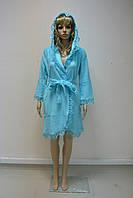 Халат женский махровый NS-031 Nusa бирюзовый, M