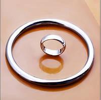 Набор Кольца покрытие 925 серебро проба (2 предмета)