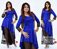 Вечернее платье ассиметричное с фатином