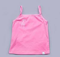 Майка для девочки (узкие бретели) Модный карапуз розовая