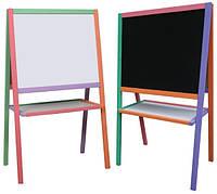 Детский Мольберт Доска для рисования 110*65*53 см. для магнитов, маркеров, мела. В комплекте: губка, мелки В12