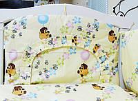 Детское постельное белье 7 В 1 Винни Пух беж (без балдахина)