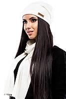 """Женская шапка и шарф """"Дели Милк"""" в комплекте"""