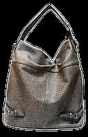 Стильная женская сумка из искусственной кожи серого цвета LКO-100687