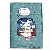 """Обложка для паспорта BlankNote """"I'm crazy and I Like it!"""" + блокнотик"""