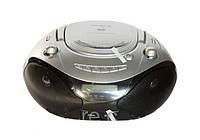 Магнитола DVD 9126, портативный радио проигрыватель CD/MP3, 15 Вт, пульт ДУ, 300х270х138 мм