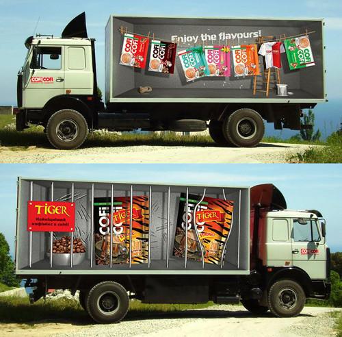 Реклама на тентах грузовых авто