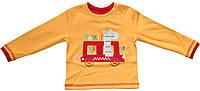 Кофта ярко-желтая для мальчика с яркой нашивкой - жираф, рост 74 см, ТМ Бемби