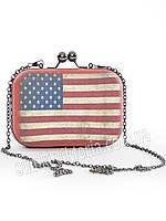 Стильный клатч с американским  флагом.