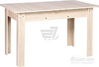 Стол для кухни прямоугольный раскладной обеденный светлый сонома
