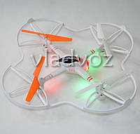 Радиоуправляемый квадрокоптер 2,4 gz Led 4 винта drone 8993v белый