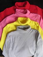 Детский однотонный свитер-гольф,размер 5-6 лет