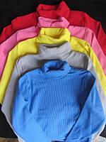 Детский однотонный свитер-гольф,размер 10-11 лет