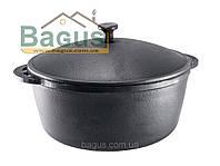 Кастрюля (казан) чугунная 3,5 л 240х100 мм с крышкой, чугунная посуда Берлика (Украина)