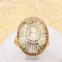 002-1929 - Позолоченный перстень с прозрачными фианитами, 17.5, 19 р.