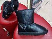 Зимние кожаные угги  SOPRA чёрные