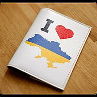 "Обложка для паспорта BlankNote ""I Love Ukraine"" (карта) + блокнотик"
