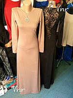 Платье в пол с гипюром на спине черное
