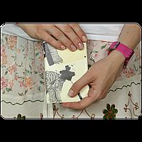 """Обложка для паспорта BlankNote """"Художественная клякса"""" + блокнотик"""