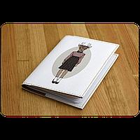 "Обложка для паспорта BlankNote ""Hipster Girls"" + блокнотик"