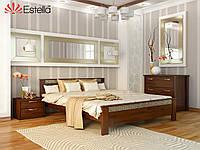 """Двуспальная кровать """"Афина"""" из дерева Эстелла (Щит)"""
