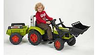 Трактор педальный с прицепом и ковшом Arion 430 Claas  Falk