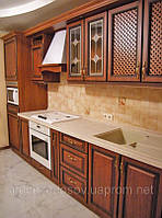 Кухни с фасадами МДФ патинированными