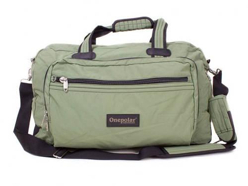 Дорожная сумка из полиэстера 50 л. Onepolar (Ванполар) WA807-green зелёная