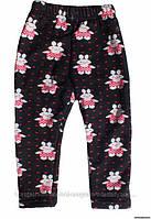 Утепленные штанишки с зайчиками, на девочку рост 104-110 см, Китай