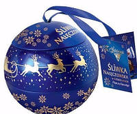 Шоколадные конфеты Sliwka Naleczowska Goplana в елочном шаре (слива в шоколаде) 190 гр,