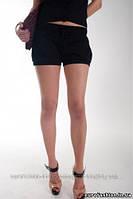 Шорты черные с резинками на штанинах, сток Terranova