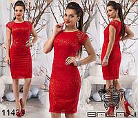 Гипюровое платье на Новый год р. S, M, L, XL 11430 4 цвета