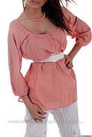 Блузка в романтическом стиле, персиковая, сток Bershka