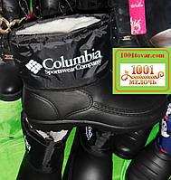 Резиновые сноубутсы-дутики мужские на меху Columbia (сапоги, ботинки)
