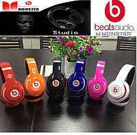 Bluetooth наушники Monster Beats Studio STN-13. Беспроводные наушники. Телефонная гарнитура. MP3 плеер и FM.