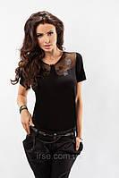 Блуза женская с коротким рукавом из вискозной ткани. Модель 17001 Enny.