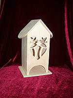 Домик коробка для чайных пакетиков сердце с голубями (10 х 10 х 23 см)