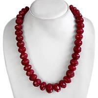 Ожерелье натуральные рубины, 735с, 38 штук 18 х 14 мм -59 см-ИНДИЯ-Эксклюзив