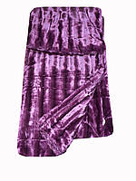 Покрывало из искуственного стриженного меха фиолетового цвета