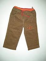 Штаны для девочки, на резинке, вельветовые, производитель Украина, рост 80, 98  см.