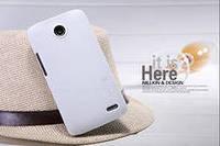 Чехол бампер пленка Nillkin Super Frosted Shield для телефона смартфона Lenovo A820 белый white