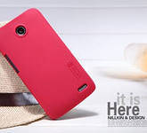 Чехол бампер пленка Nillkin Super Frosted Shield для телефона смартфона Lenovo A820 красный red